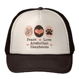 Peace Love Anatolian Shepherds Cap Trucker Hat