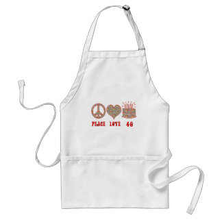 Peace Love and 40 Adult Apron