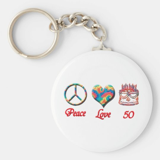Peace Love and 50 Keychain