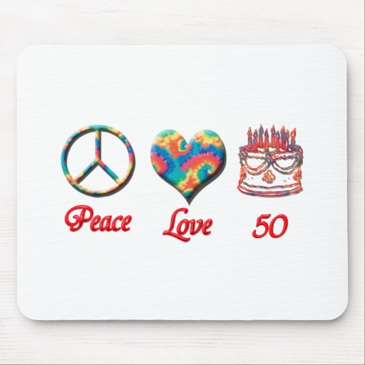 Peace Love and 50 Mousepad