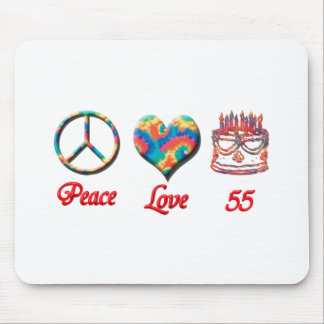 Peace Love and 55 Mouse Pad