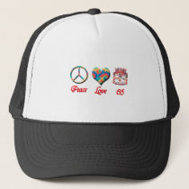 Peace Love and 65 Trucker Hat