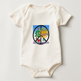 Peace, Love, and Acceptance/Peace Sign Baby Bodysuit
