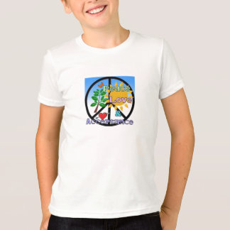 Peace, Love, and Acceptance-Peace Sign Colorful T-Shirt