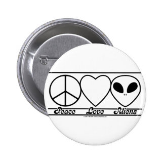 Peace Love and Aliens Pin