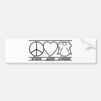 Peace Love and Angels Bumper Sticker