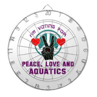 Peace Love And Aquatics. Dartboard