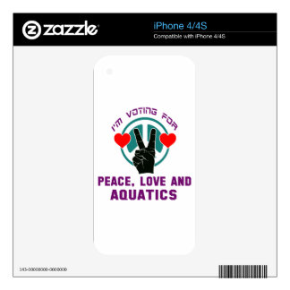 Peace Love And Aquatics. Decals For The iPhone 4S