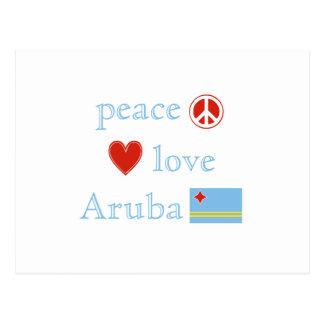 Peace Love and Aruba Postcard