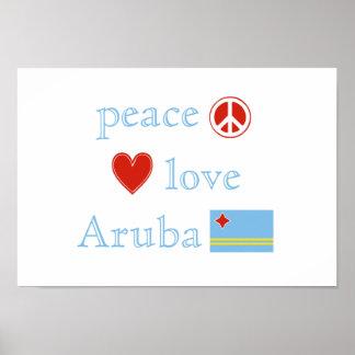 Peace Love and Aruba Poster