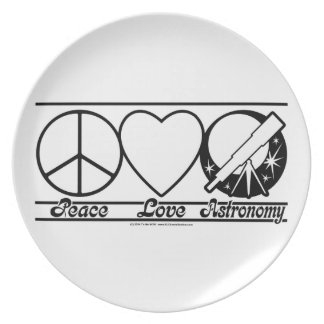 Peace Love and Astronomy Plate