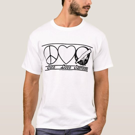 Peace Love and Astronomy T-Shirt