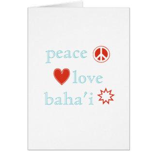 Peace Love and Bahi Card