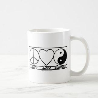 Peace Love and Balance Coffee Mugs