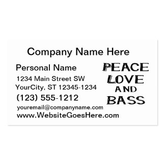 peace love and bass bernice black Double-Sided standard business cards (Pack of 100)