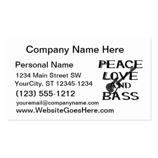 peace love and bass bernice black w guitar.png Double-Sided standard business cards (Pack of 100)