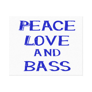 peace love and bass bernice blue.png canvas print