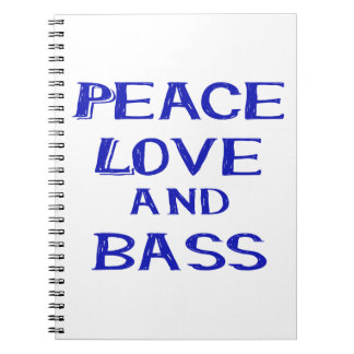 peace love and bass bernice blue.png notebook