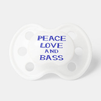 peace love and bass bernice blue.png pacifier