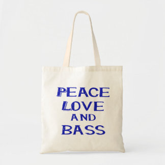 peace love and bass bernice blue.png tote bag