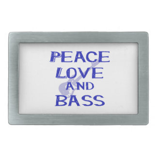 peace love and bass bernice blue w guitar belt buckle