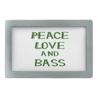 peace love and bass bernice green belt buckle