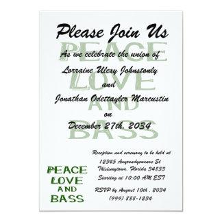 peace love and bass bernice green card