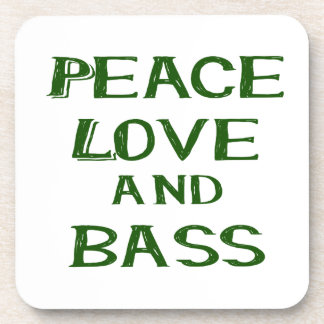peace love and bass bernice green coaster