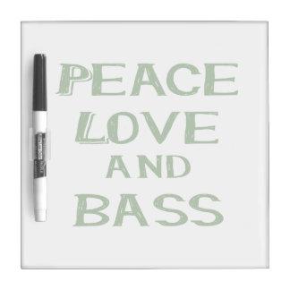 peace love and bass bernice green Dry-Erase board