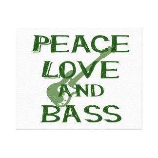 peace love and bass bernice green w guitar canvas print