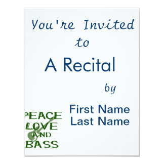 peace love and bass bernice green w guitar card