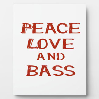 peace love and bass bernice red plaque