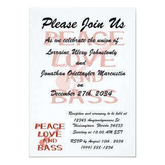 peace love and bass bernice red w guitar card
