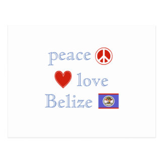 Peace Love and Belize Postcard