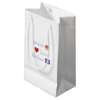 Peace Love and Belize Small Gift Bag