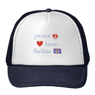 Peace Love and Belize Trucker Hat