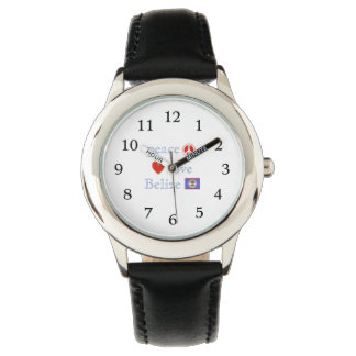 Peace Love and Belize Wrist Watches