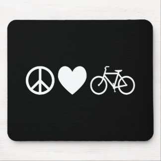 Peace Love and Bicycles Mouse Pad