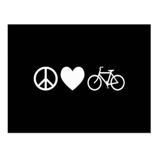 Peace Love and Bicycles Postcard