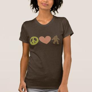 Peace, Love And Bigfoot T-Shirt