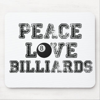 Peace, Love, and Billiards Mouse Pad