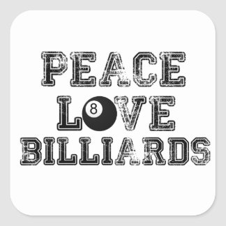 Peace Love and Billiards Stickers