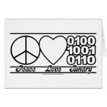 Peace Love and Binary