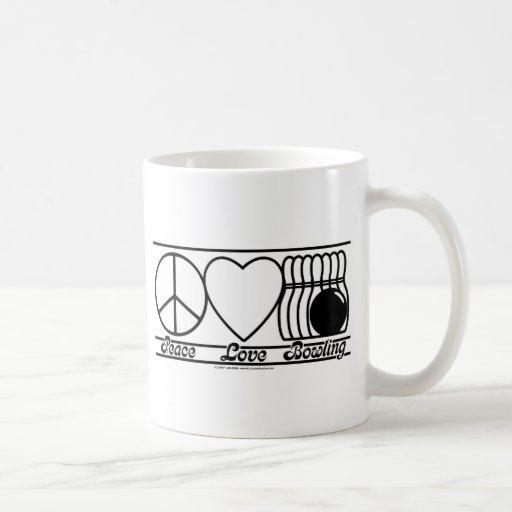 Peace Love and Bowling Coffee Mug