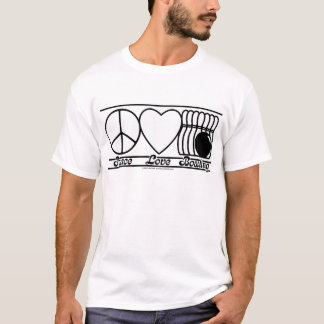 Peace Love and Bowling T-Shirt