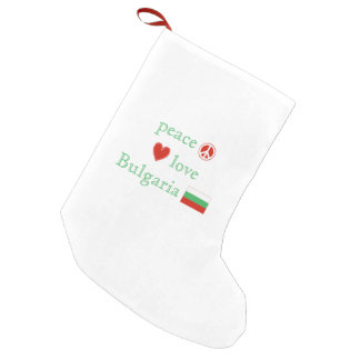 Peace Love and Bulgaria Small Christmas Stocking