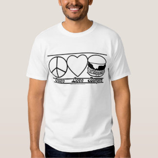 Peace Love and Burgers T Shirt