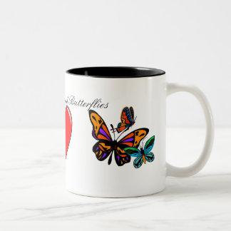 Peace, Love, and Butterflies Mug