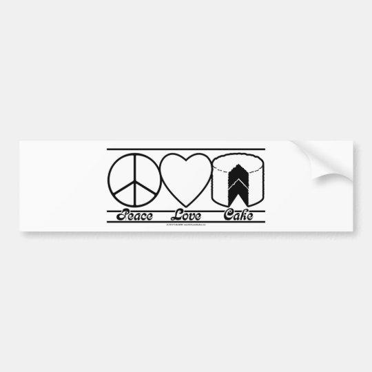 Peace Love and Cake Bumper Sticker
