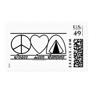 Peace Love and Camping Postage